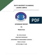 INTERNSHIP report on nishat