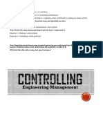 Controlling system in engineering management