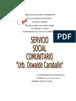 informe servicio social comunitario