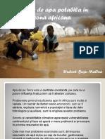 Apa Potabila- Africa