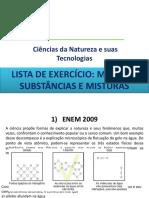 Aula Química  Matéria - exercicio