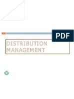 Distribution and Channel Management