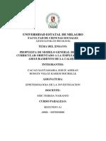 PROPUESTA DE MODELO GENERAL DE DISEÑO CURRICULAR ORIENTADO A LA EMPLEABILIDAD Y ASEGURAMIENTO DE LA CALIDAD