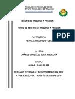 TIPOS DE TECHO EN TANQUES A PRESION