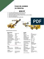 Caracteristicas de Jumbos de Perforación