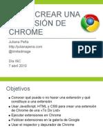 Creando Una Extensión de Chrome