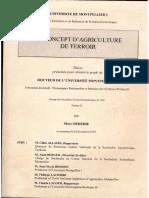 Le Concept d'Argriculture de Térritoir
