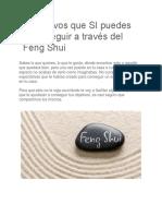 5 objetivos que SI puedes a conseguir a través del Feng Shui