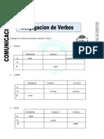Ficha de Conjugacion de Verbos Para Segundo de Primaria