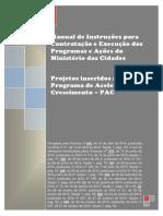 Manual de Instruções Para Contratação e Execução Dos Programas e Ações Do Ministério Das Cidades