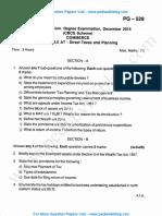 3rd Sem MCom Direct Taxes Dec 2015