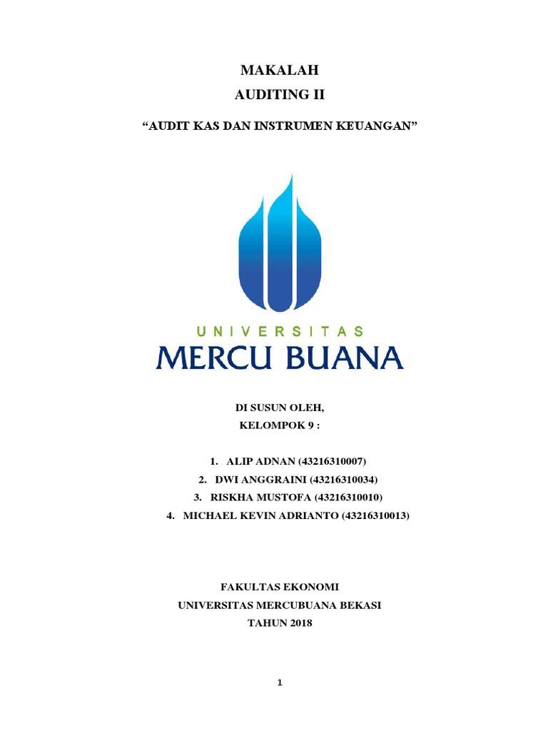 Makalah Audit Kas Dan Instrumen Keuangan