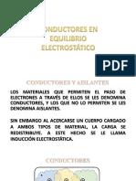 CONDUCTORES EN EQUILIBRIO ELECTROSTÁTICO.pptx