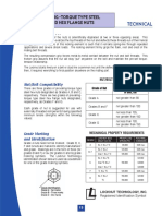 Prevailing Torque Locknut Technical Specifications