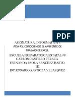 Ambiente Excel Fernanda Paola Sanchez Basto 1e.