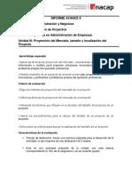 Rubrica Informe Avance II - Evaluación de Proyectos - Inacap