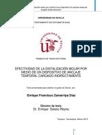 Efectividad de La Distalizacion Molar Por Medio de Dispositivo de Anclaje Temporal Cargado Indirectamente - Zamarripa Diaz