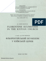 Florentine Ecumenism in the Kyivan Church - I. Moncak