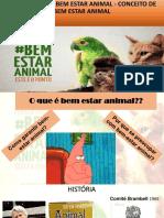 Aula 1 Introdução de Bem Estar Animal - Conceito de Bem Estar Animal