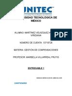 Entregable 1 MARTINEZ VELAZQUEZ ARLETE VIRIDIANA GESTION DE COMPENSACIONES