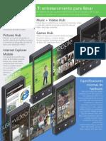 Teléfono Windows Phone 7 de Microsoft en Latinoamérica