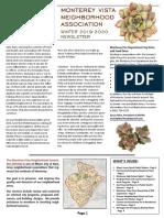 Winter 2019-2020 Newsletter - Monterey Vista Neighborhood Association
