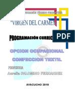 Programacion curricular