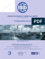 Annual Report of Hindustan Organic Chemicals