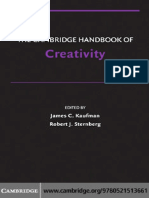 (Cambridge handbooks in psychology) James C. Kaufman, Robert J. Sternberg PhD - The Cambridge Handbook of Creativity (Cambridge Handbooks in Psychology)-Cambridge University Press (2010).pdf