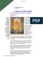 Reviving Art Patronage