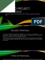 Writing Project Proposal