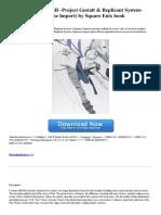 Grimoire Nier Project Gestalt Replicant System Japanese Import