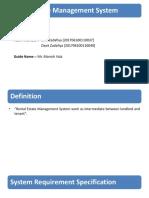 REntal Estate Management System