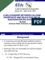 arelationshipbetweencalciumphosphateandsilicafoulinginwastewaterrosystemsamtaspellingcorrections-13162096451198-phpapp01-110916165341-phpapp01.ppt