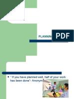 HMM102 Planning