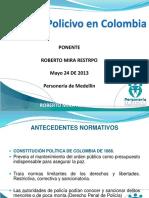 Derecho Policivo en Colombia
