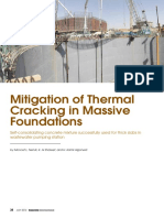 Mitigation of thermal cracking in massive foundations