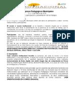Ficha de Identificación y Resumen Congreso Pedagógico Municipal 2016