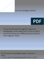 X-ray production by Coolidge method