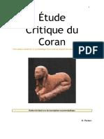 Étude Critique Du Coran (2020)