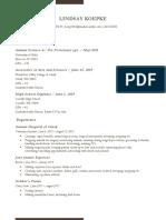engl317 resume