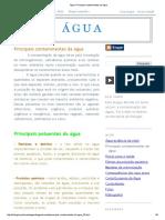 Água_ Principais Contaminantes Da Água