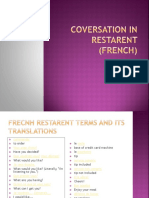 Coversation in restarent (french)