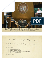 The Work of the Holy See at the UN
