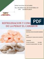 TRABAJO ENCARGADO DE REFRIGERACION DE LOS ALIMENTOS CAMARON TERMINADO