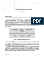 How to Establish Manufacturing Specifications