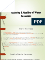 Quantity & Quality of Water Resources.pptx