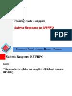 Supplier Submit Response to RFIRFQ
