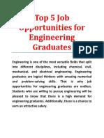 Top 5 Job Opportunities for Engineering Graduates