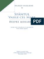 Despre Monahism - Sfantul Vasile Cel Mare